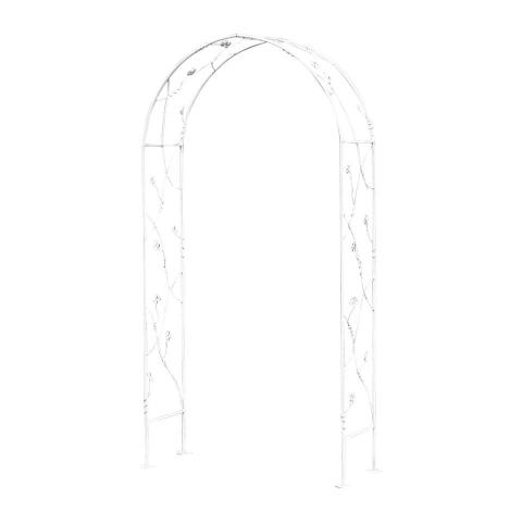 Градинска арка 200см метална, бяла