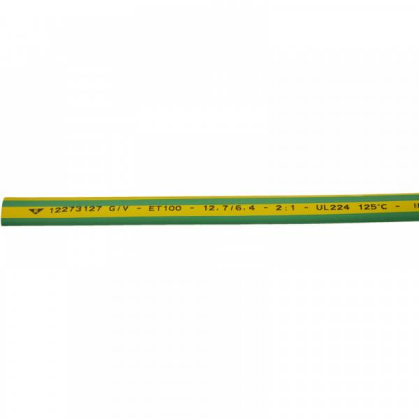 Термосвиваем шлаух 12.7/6.4 жълто-зелен Elematic