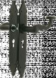 Дръжка за врата 109-280X45 черна 90 мм