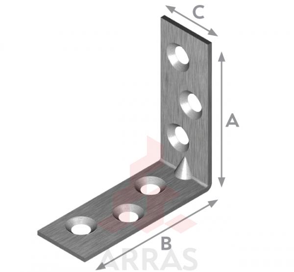 Планка ъглова с конусни отвори 40х40х15х2