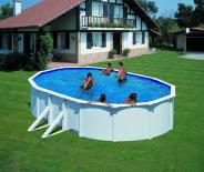 Овален басейн с 2 подпори 500x300х120см