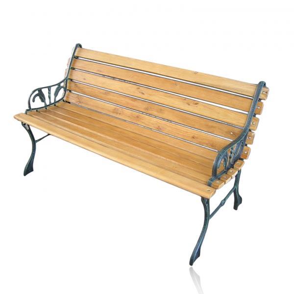 Градинска пейка чугун/дърво 122см