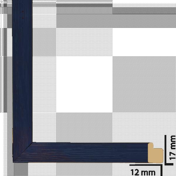 Рамка с паспарту дърво 30/40 синьо