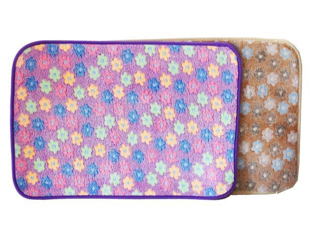 Стелка плюш с цветя 40х60
