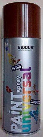 Спрей Biodur  RAL 8011(Кафяв), 400мл