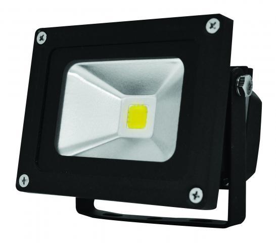 LED прожектор черен 10W IP65 6500K 600lm