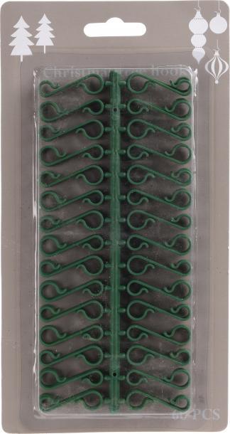 Кукички за коледни играчки  60 броя, зелени