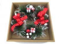 Коледен венец с украса 30 см в кутия