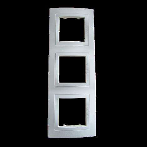 Unica B тройна рамка бяла
