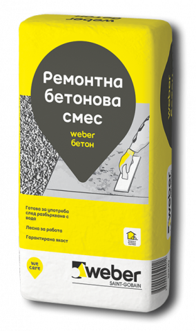 Weber Бетон, ремонтна бетонова смес 25 кг