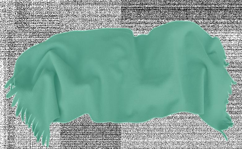 Одеяло Полар 100/150 с ресни зелено