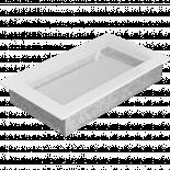 Решетка 17/30 см бяла