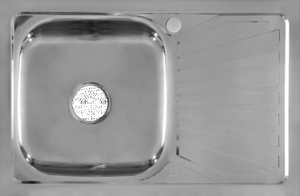 Мивка алпака - бордова с десен плот 50x80см