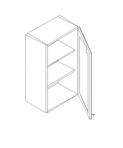 Талпи горен шкаф врата и рафт 40х29х70.5