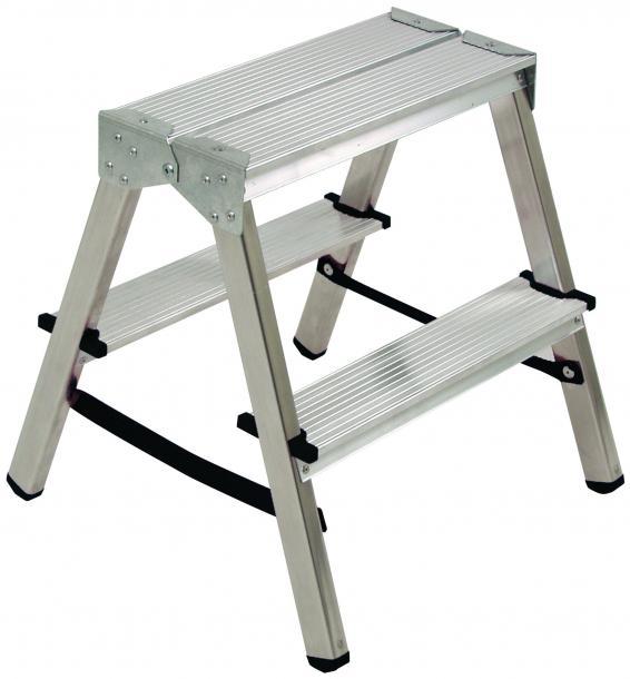 Стълба алуминиева 2x2 стъпала