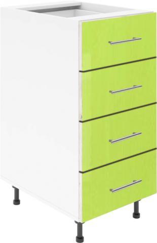 Крафт D4 долен шкаф с четири чекмеджета 50см, зелен гланц