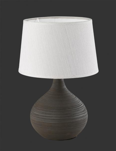 Настолна лампа Martin h29 cm кафяв/капучино
