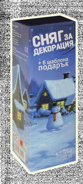 Спрей сняг с шаблони в кутия