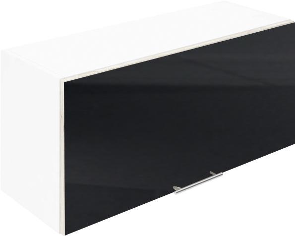 Крафт G19 горен с една врата клапваща 90см, черен гланц