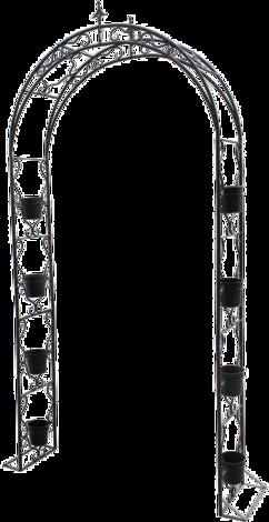 Градинска арка , 8 саксии
