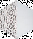 Декор Solid Triangle White 21.5x25