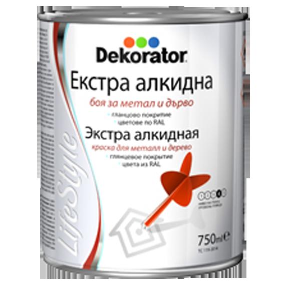 Екстра алкидна боя Dekorator 0.33л, RAL 8001
