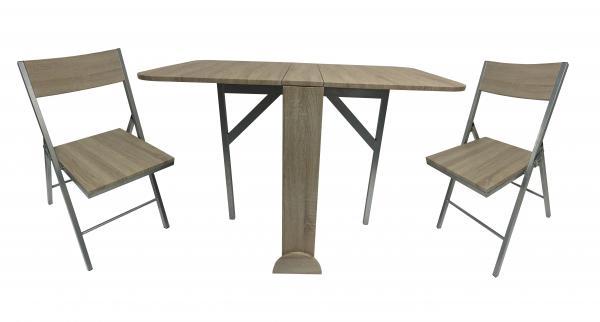 Butterfly маса с 2 стола, дъб