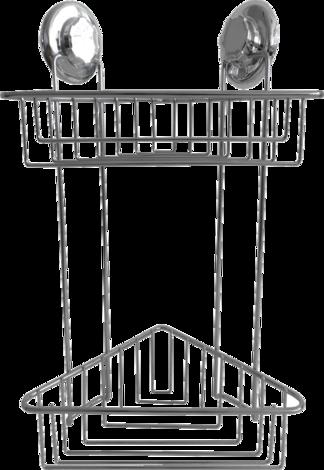 Ъглова етажерка  вакуум 2 нива