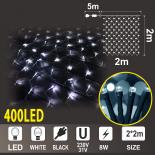 Светеща мрежа OUT 2х2м, 360 бели LED + 40 бели мигащи LED лампички