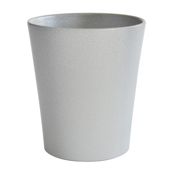 Кашпа 13 см сива