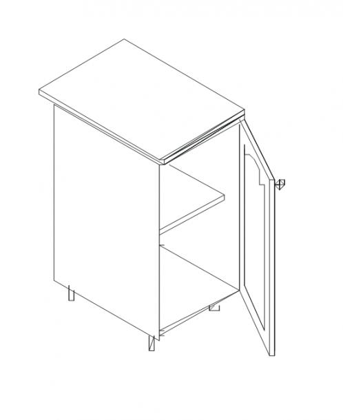 Талпи долен шкаф с врата 50х60х89