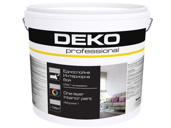 Еднослойна интериорна боя Deko Professional 5кг, бяла