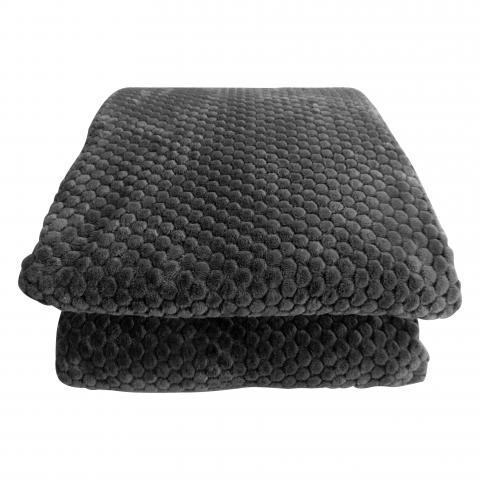 Жакардово одеяло сиво 200x220 см 3
