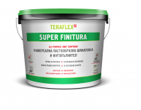 TERAFLEX SUPER FINITURA Универсална пастообразна шпакловка - 6кг.