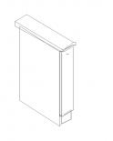 Ава долен шкаф с чекмедже и механизъм за бутилки 15х60х90.3