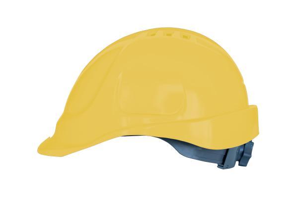 Каска вентилирана жълта KANTON