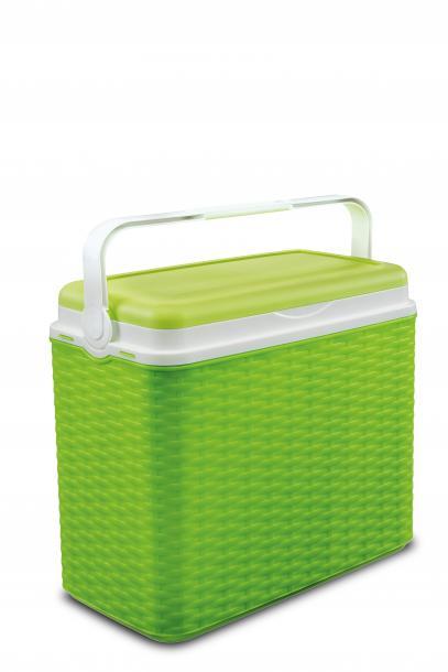 Хладилна кутия 24л, ратан - лайм