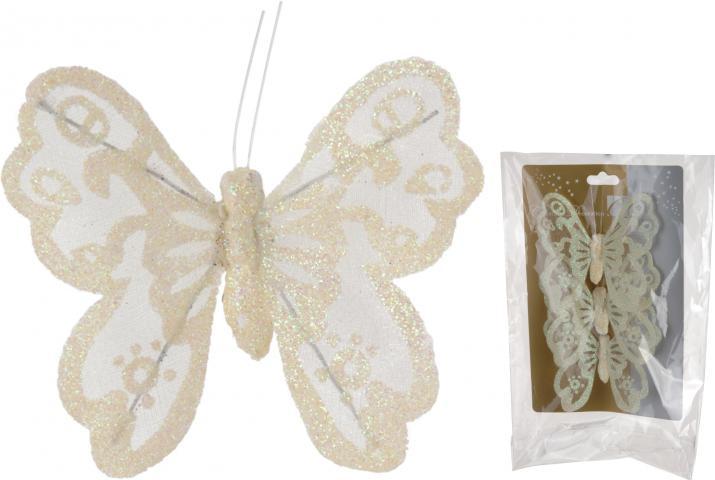 Деко-пеперуда с клипс