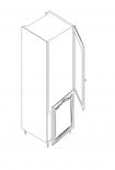 Ава шкаф колона за вграждане на хладилник 60х60