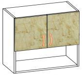 Горен шкаф с две врати и ниша Алина 60см