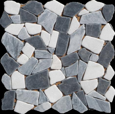 Моз.естеств камък сив микс