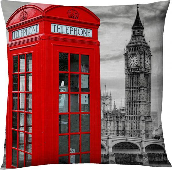 Възглавница 45х45 см, декор Лондон