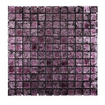 Стъклена мозайка 30х30 см лилав