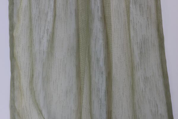 Тънко перде ленена структура - зелено
