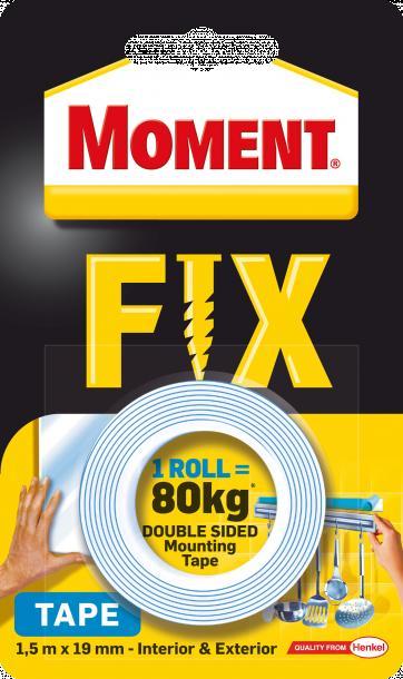 Двойнолепяща лента Moment Fix 80 кг
