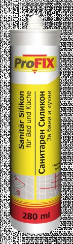 Санитарен силикон Profix, бял 280мл