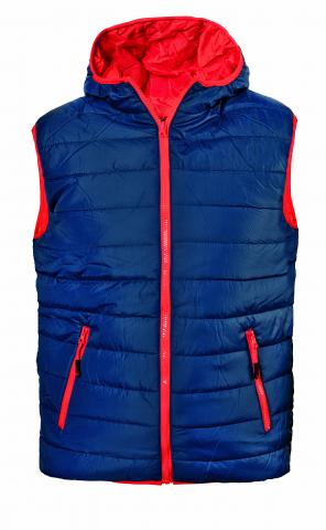 Мъжки елек Speedy Vest син/червен M