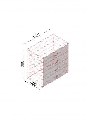Скрин Дамяна А с четири чекмеджета, босфор/астра 3
