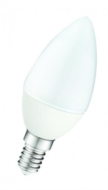 LED крушка 7W 220V E14 B35 мат 4000K