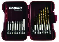 """Накрайници и свредла 1/4"""" 15 бр. Комплект RAIDER"""